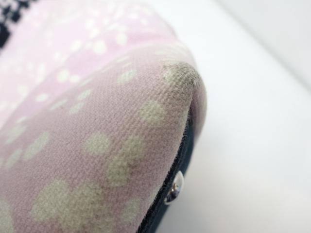 【人気】シャネル / CHANEL レディース トートバッグ  キャンバス×コーデュロイ ピンク ブラック_画像6