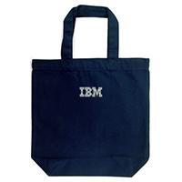 IBMロゴ入り ライトキャンバスバッグ(M)マチ付 ネイビー_画像1