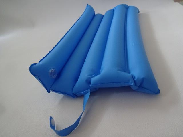 O / 折りたたみ式 / 枕 ピロー / 車中泊 キャンプ 登山 / 携帯用 枕 空気枕 / ブルー 中古品_画像8