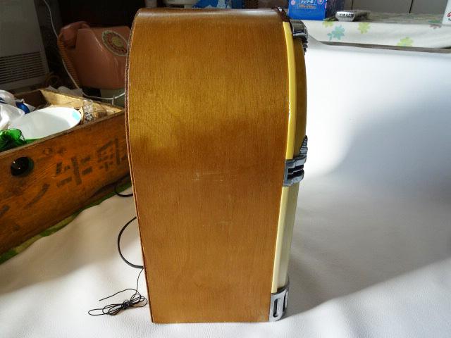 H/ サン商事 / SUNDOG SDC-500 ジュークボックス 型ラジオ / カセットデッキ付き AM/FM ラジオ / アンティーク調 アーチ型 ラジオ / 中古品_画像9