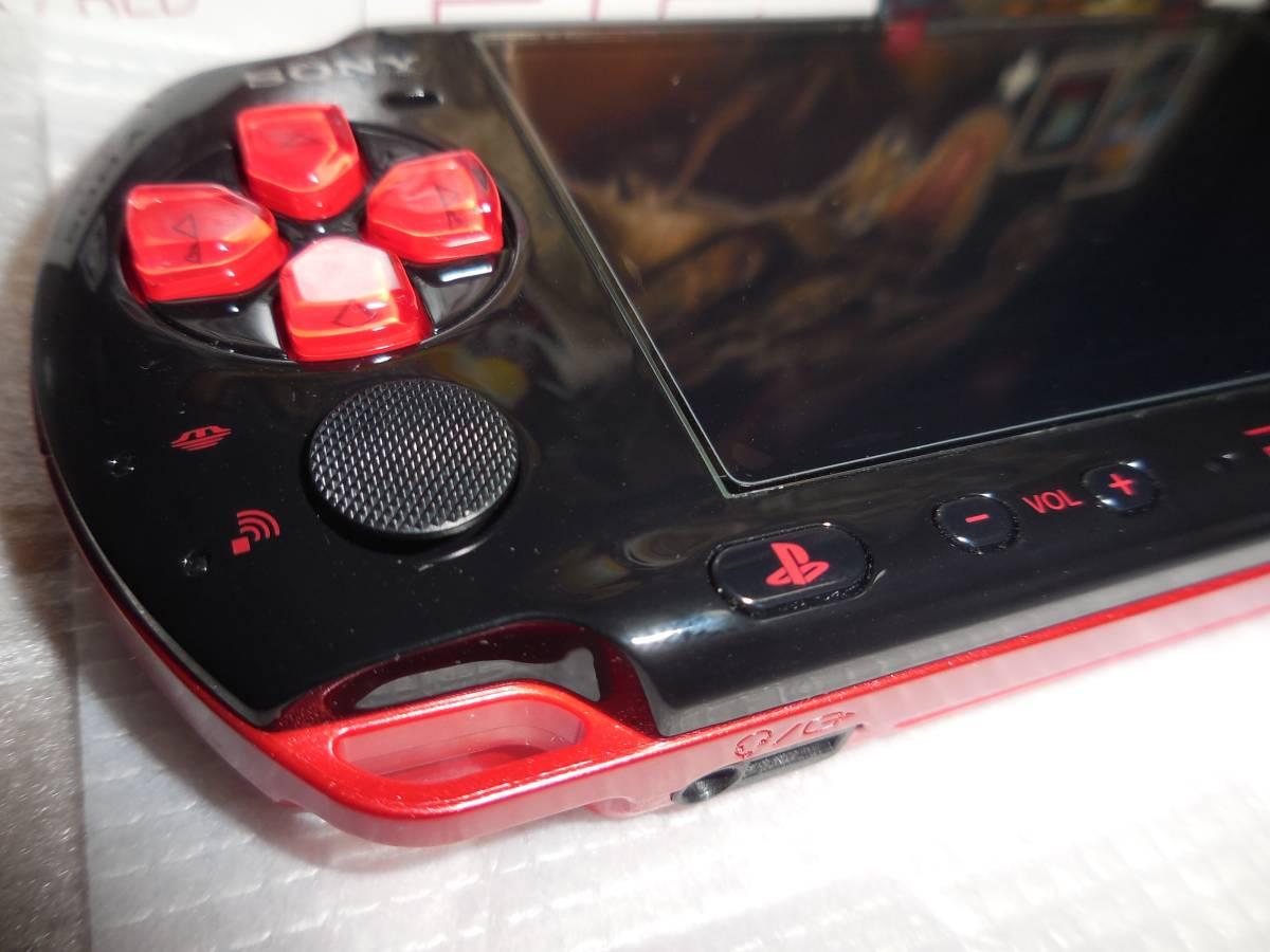 PSP 新米ハンターズパック レッド/ブラック 未使用品 メモリースティックPRO Duo 16GB 液晶保護フィルム 付き ソフト バッテリー 無し_画像6
