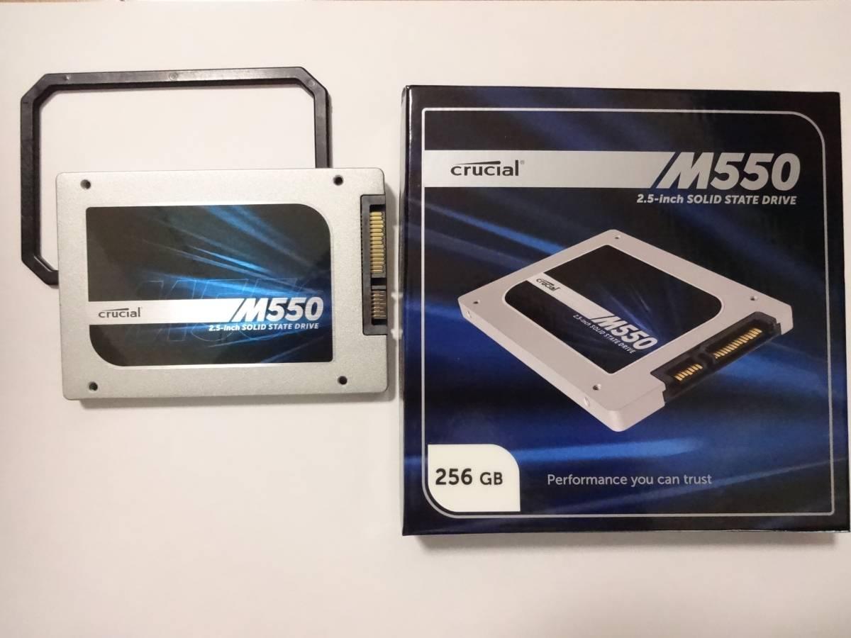 Crucial SSD 256GB 内蔵2.5インチ 7mm M550 (9.5mmアダプター付)
