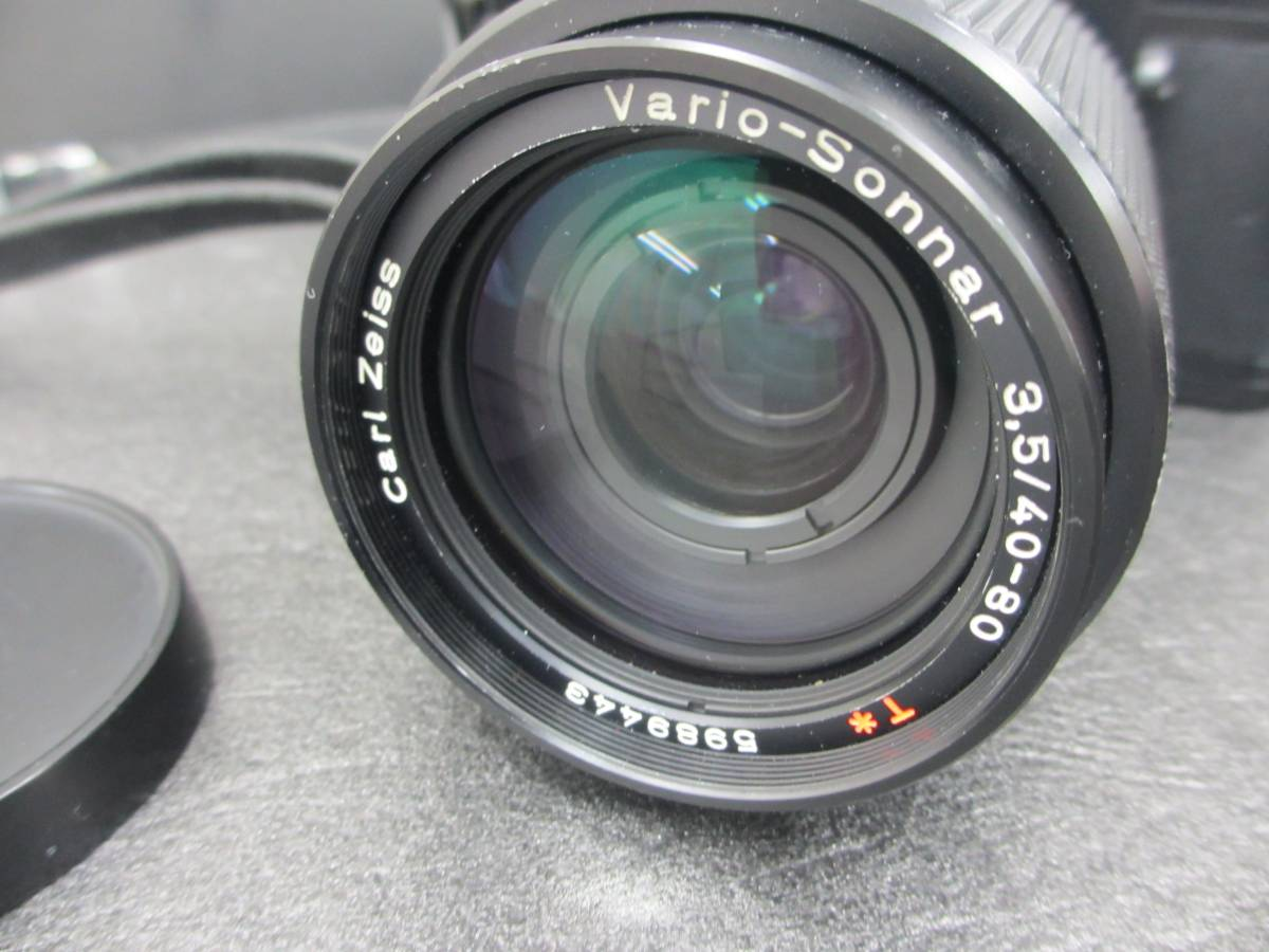 CONTAX/RTS フィルムカメラ/Carl Zeiss Vario-Sonnar 3.5/40-80 レンズ付き/ジャンク/コンタックス/シャッター動作OKジャンク扱い 格安出品_画像5