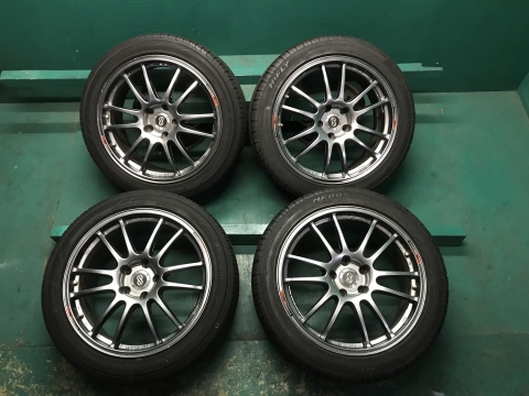 送料無料!ENKEI エンケイ GTC-01 TEAM SPARCO チームスパルコ 5H 18インチ 8J PCD114.3 +45 完全売切 4本 大人気 夏タイヤ 235/45 普通車