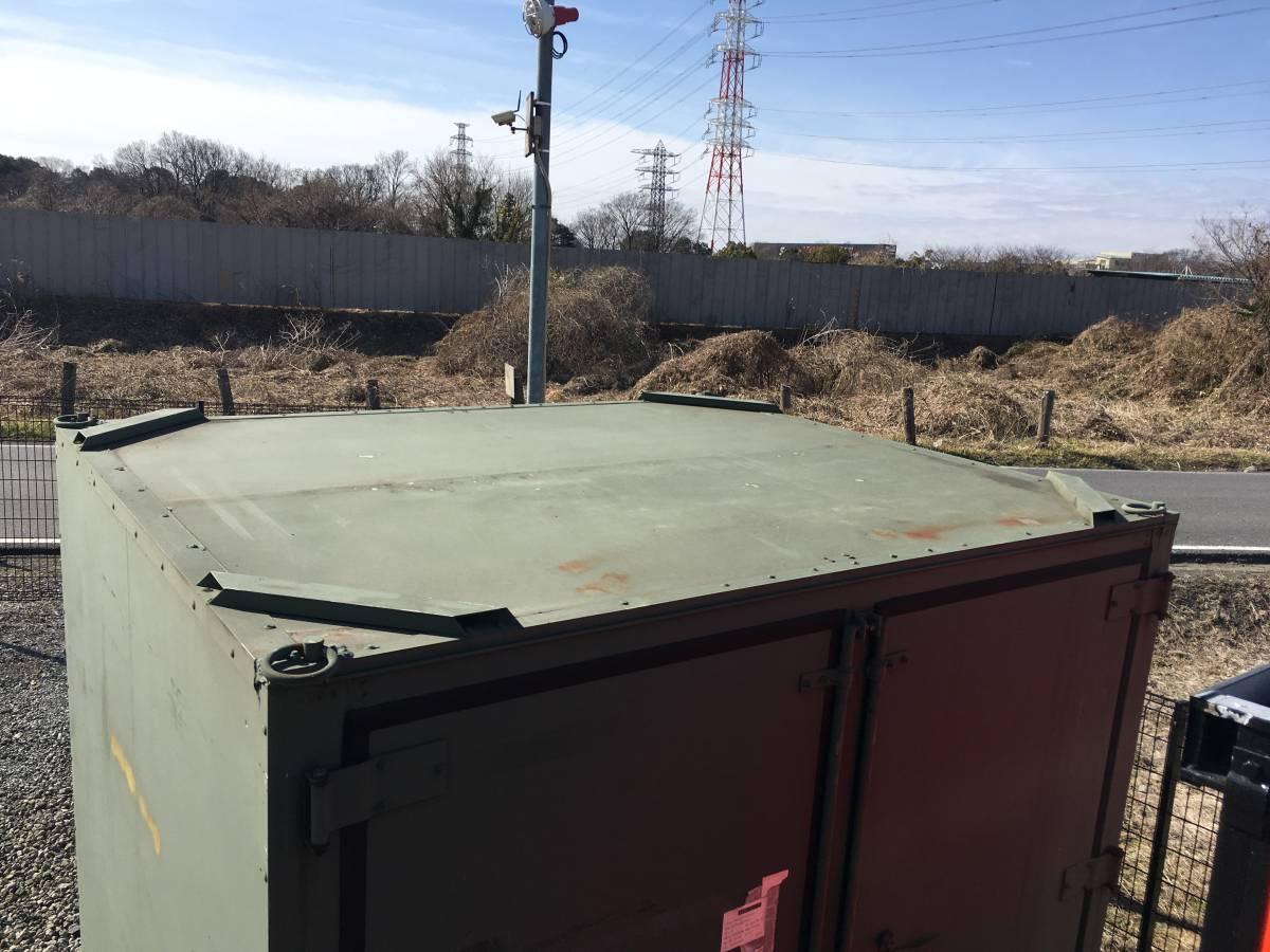 中古米空軍アルミコンテナ 中仕切りタイプ -米空軍 USAF 払下 物置 海上コンテナ ミリタリー military サバゲー ストレージ storage_画像5