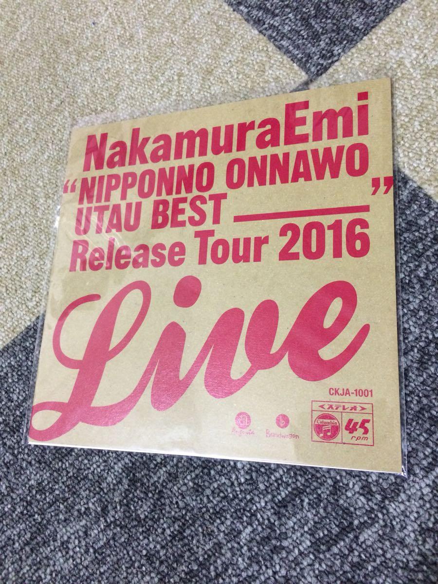即決 【新品】 レコード ■ NakamuraEmi「NIPPONNO ONNAWO UTAU BEST RELEASE TOUR LIVE!(赤盤)」7インチ・アナログ盤_画像1