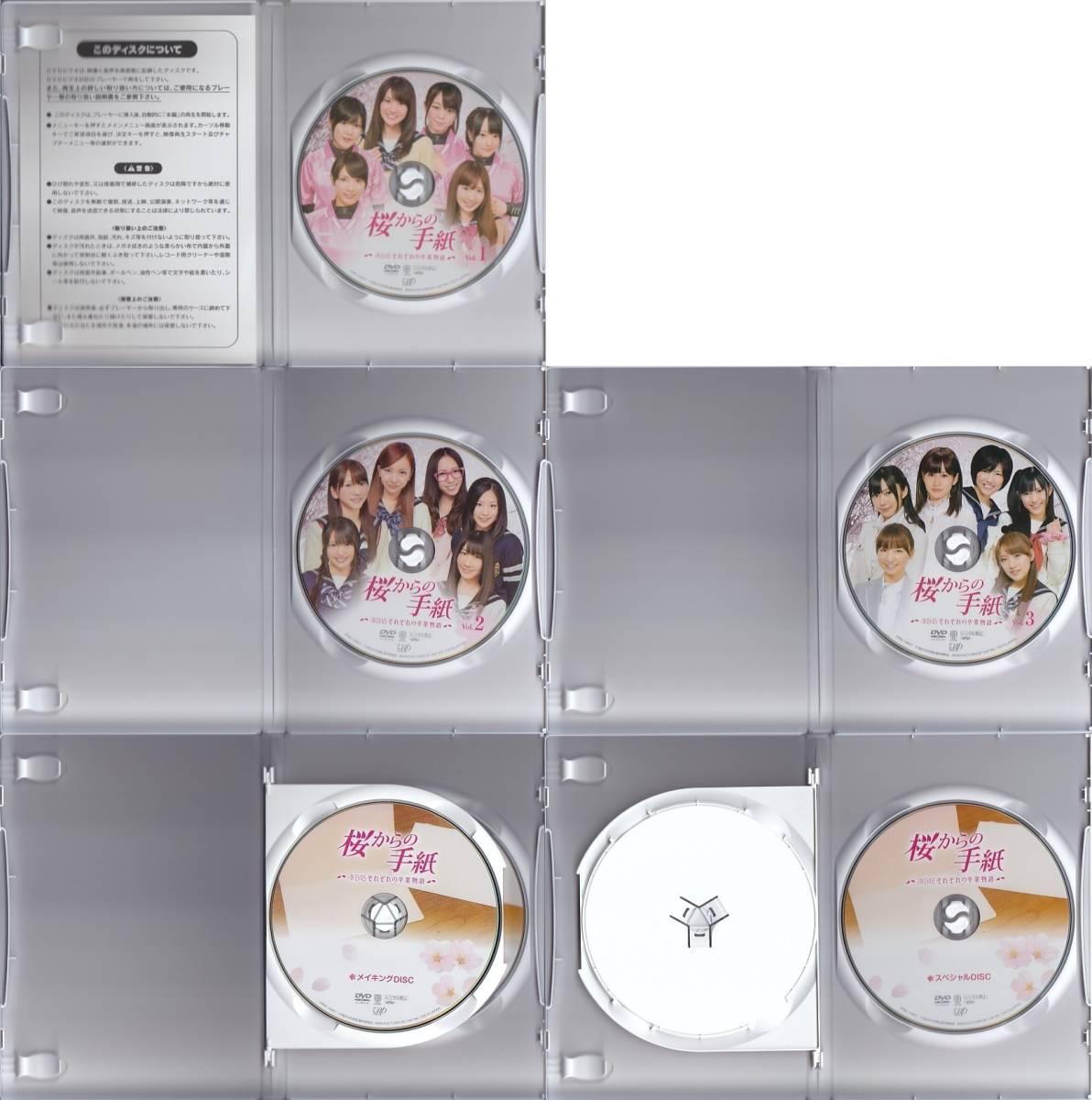 【正規品】AKB48 DVD] 桜からの手紙~AKB48それぞれの卒業物語~豪華版 DVD-BOX [5枚組]/前田敦子/大島優子/篠田麻里子/板野友美/上川隆也_画像3