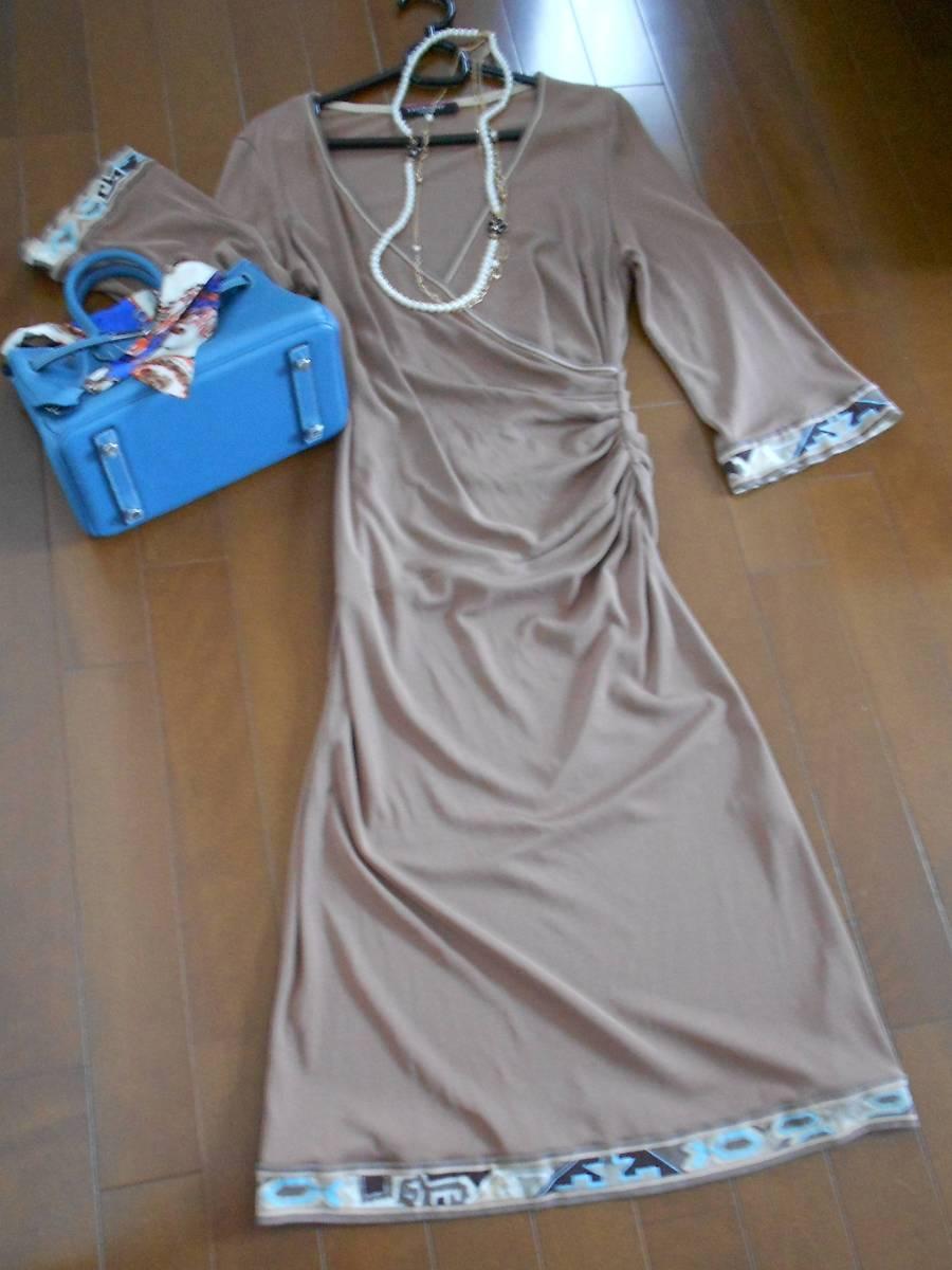 レオナールワンピース♪ 春~秋☆彡 エレガントなスカート丈です☆♪ 送料無料でお買い得♪♪