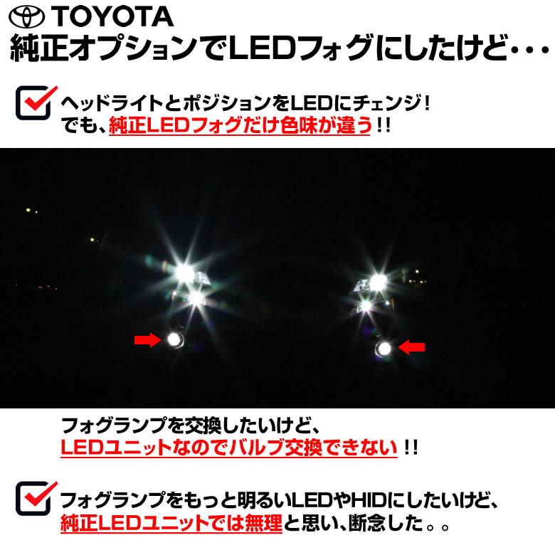 200 ハイエース トヨタ 純正 LED HID フォグランプ 交換用 フォグランプユニット 左右セット H8/H11/H16 車両専用 耐熱ガラス/防水仕様_画像2