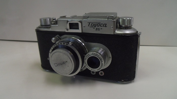 コレクター所有カメラ⑩ トヨカ 横二眼 / Toyoca 35  トヨカフレックス35  動作未確認 ジャンク