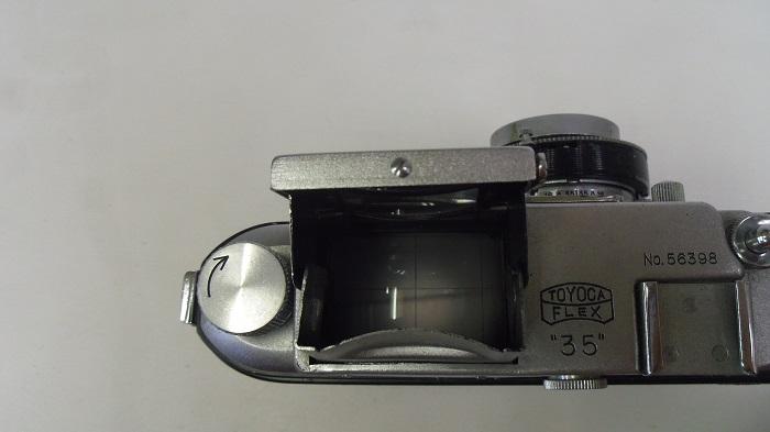 コレクター所有カメラ⑩ トヨカ 横二眼 / Toyoca 35  トヨカフレックス35  動作未確認 ジャンク_画像4