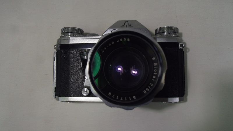コレクター所有カメラ⑲ CONTAX FM 動作未確認 レンズ Carl Zeiss jena Biotar 2/58 ジャンク_画像6
