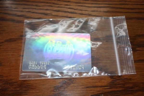 Bz 稲葉浩志 2001メンバーズカード  プラスティック製