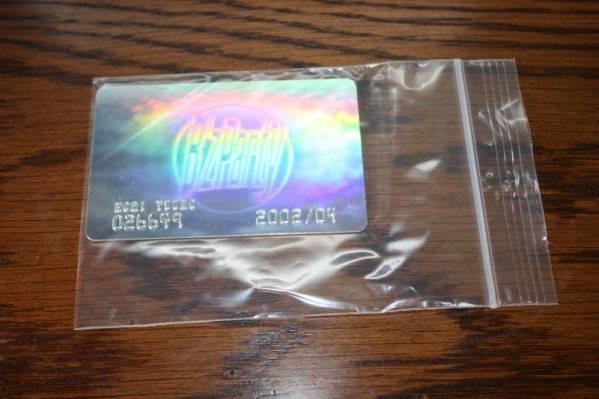 Bz 稲葉浩志 2002メンバーズカード  プラスティック製