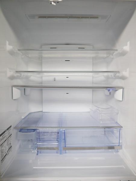 良好品◇三菱 600L 6ドア冷蔵庫(シャイニーブラウン) MR-JX60W-BR_画像3