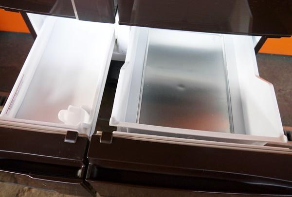良好品◇三菱 600L 6ドア冷蔵庫(シャイニーブラウン) MR-JX60W-BR_画像7