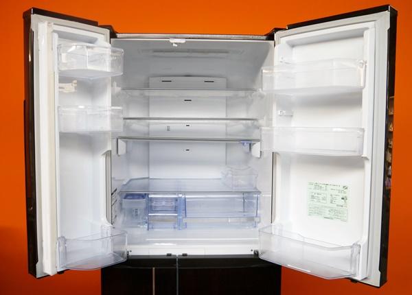 良好品◇三菱 600L 6ドア冷蔵庫(シャイニーブラウン) MR-JX60W-BR_画像2