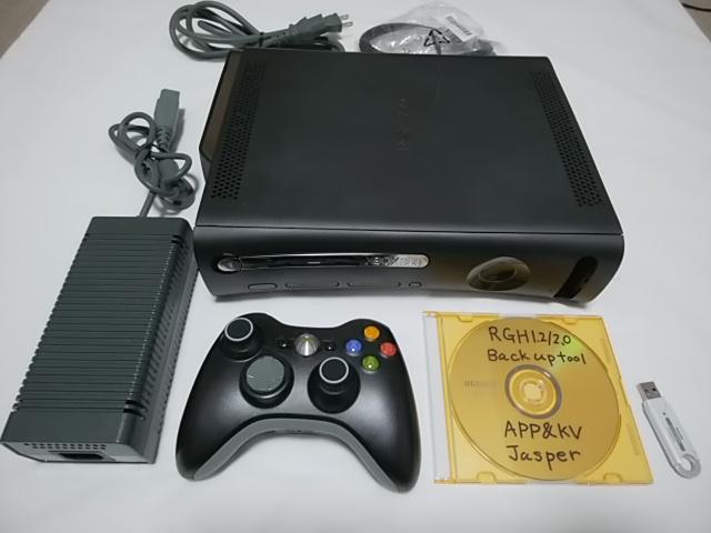 RGH 1.2/2.0 Jasper 17511 HDD120GB 本体 ゲーム エミュレーター xbox360 Gritch 2