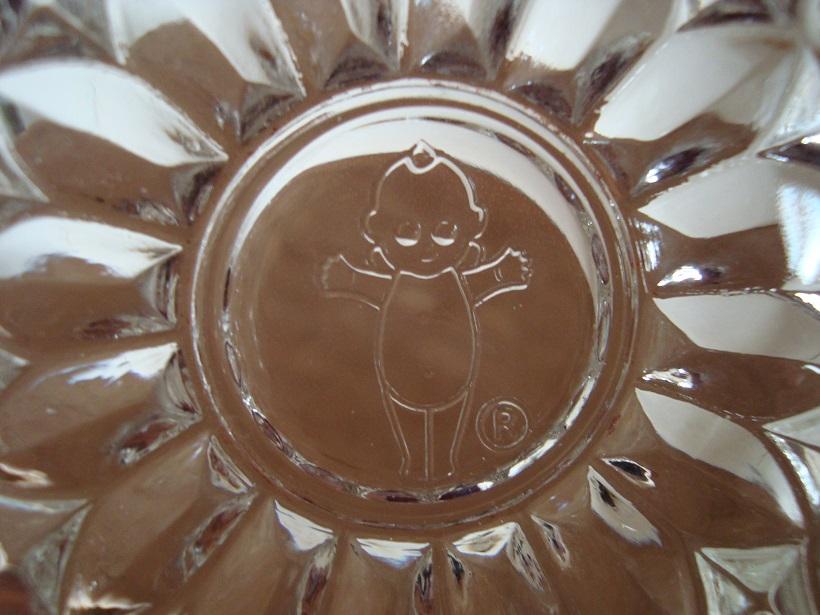 キューピー ノベルティ ガラス器 未使用品2個_キューピー人形