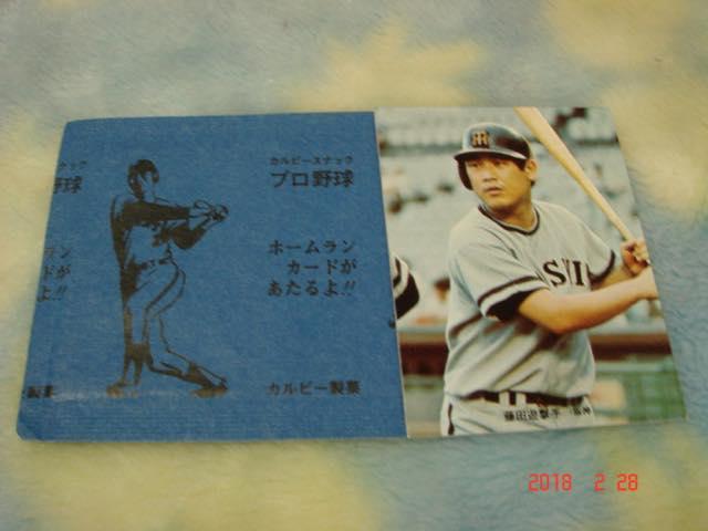 激レア カルビー73年野球カード NO.205 (藤田/阪神) 袋付き・極美品