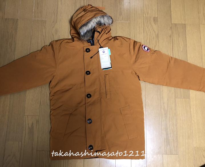★保管品★CANADA GOOSE カナダグース メンズ ダウンジャケット カーキ色・XLサイズ