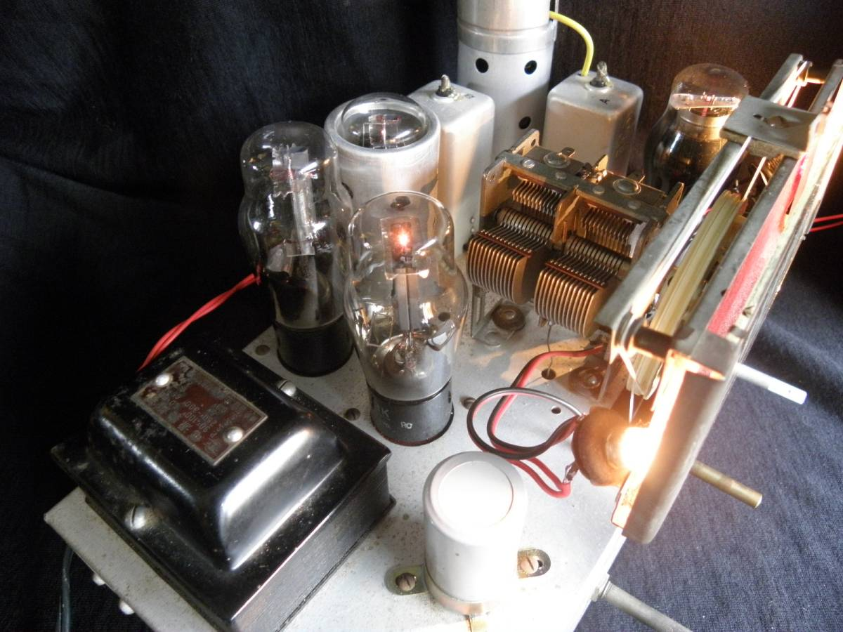 真空管ラジオ 五球スーパーラジオ 6W-C5/6D6/6Z-DH3A/6Z-P1/80BK OUT&SP付 箱なしのジャンクラジオ_画像2