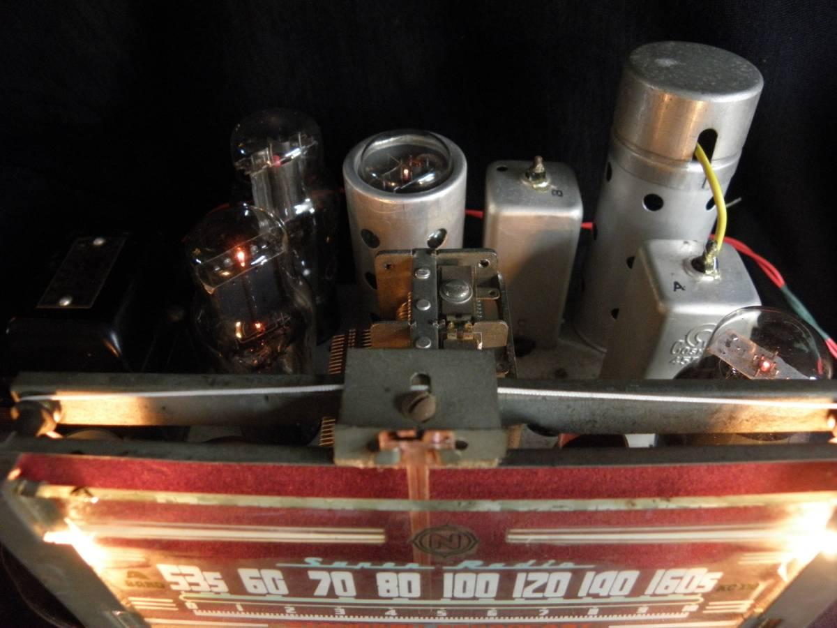 真空管ラジオ 五球スーパーラジオ 6W-C5/6D6/6Z-DH3A/6Z-P1/80BK OUT&SP付 箱なしのジャンクラジオ