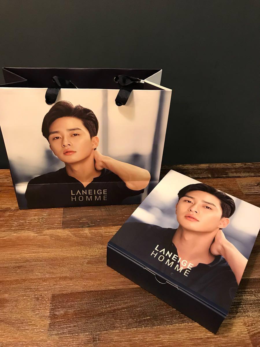 パク ソジュン* 韓国 LANEIGE バレンタイン限定box 紙袋 Box (中身なし) サムマイウェイ パクソジュン