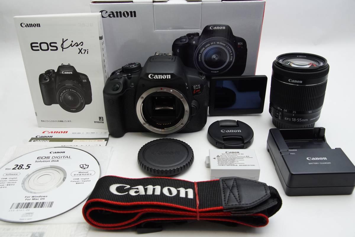 ★極上美品★ Canon EOS Kiss X7i 18-55mm IS STM レンズキット キャノン 一眼レフカメラ タッチパネル 初心者オススメ 一眼レフデビュー
