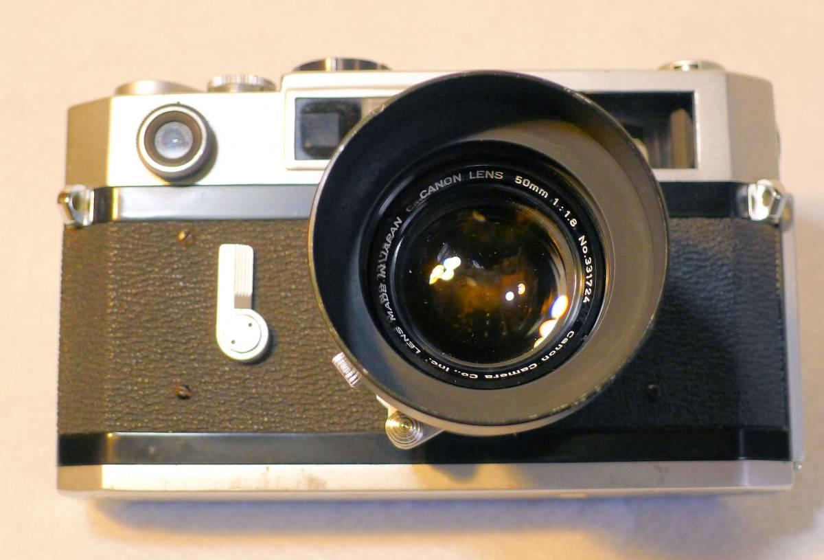 Canon 7s  キヤノン・レンジファインダー・カメラ 最終フラグシップ・モデル 1.8レンズ付き 美品