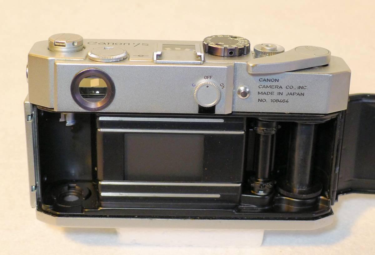 Canon 7s  キヤノン・レンジファインダー・カメラ 最終フラグシップ・モデル 1.8レンズ付き 美品_画像3