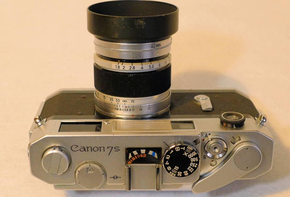 Canon 7s  キヤノン・レンジファインダー・カメラ 最終フラグシップ・モデル 1.8レンズ付き 美品_画像2