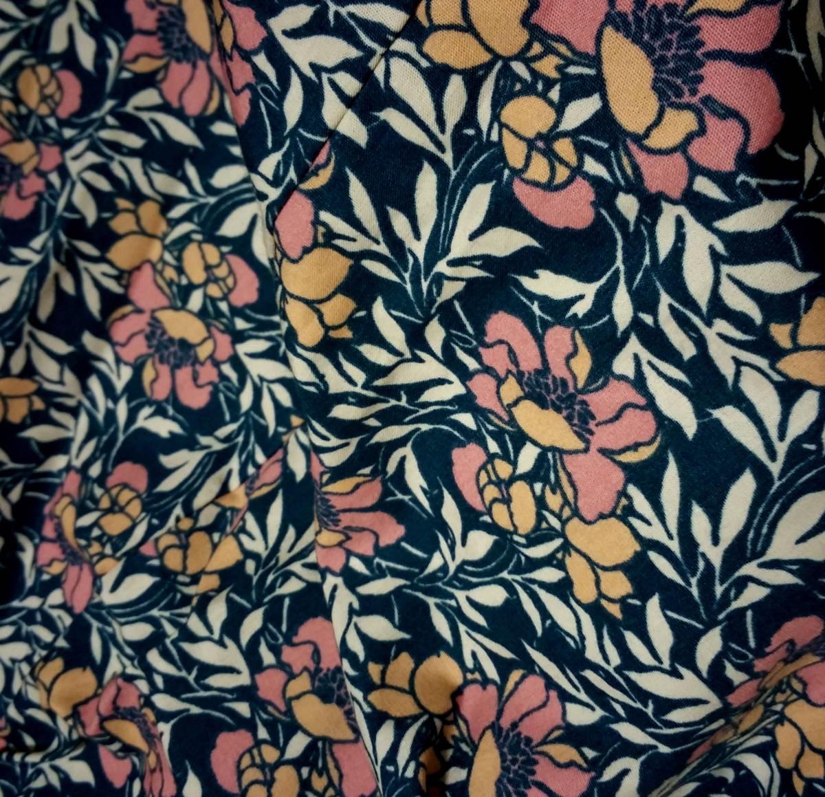 新品 TOPSHOP 中綿入りキルティングジャケット 36 ベージュ 花柄 コート ブルゾン トップショップ_画像2