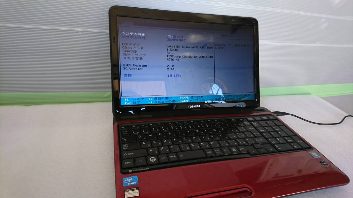 ◆◇TOSHIBA dynabook EX/47DRDT Windows7 ジャンク品◇◆_画像6