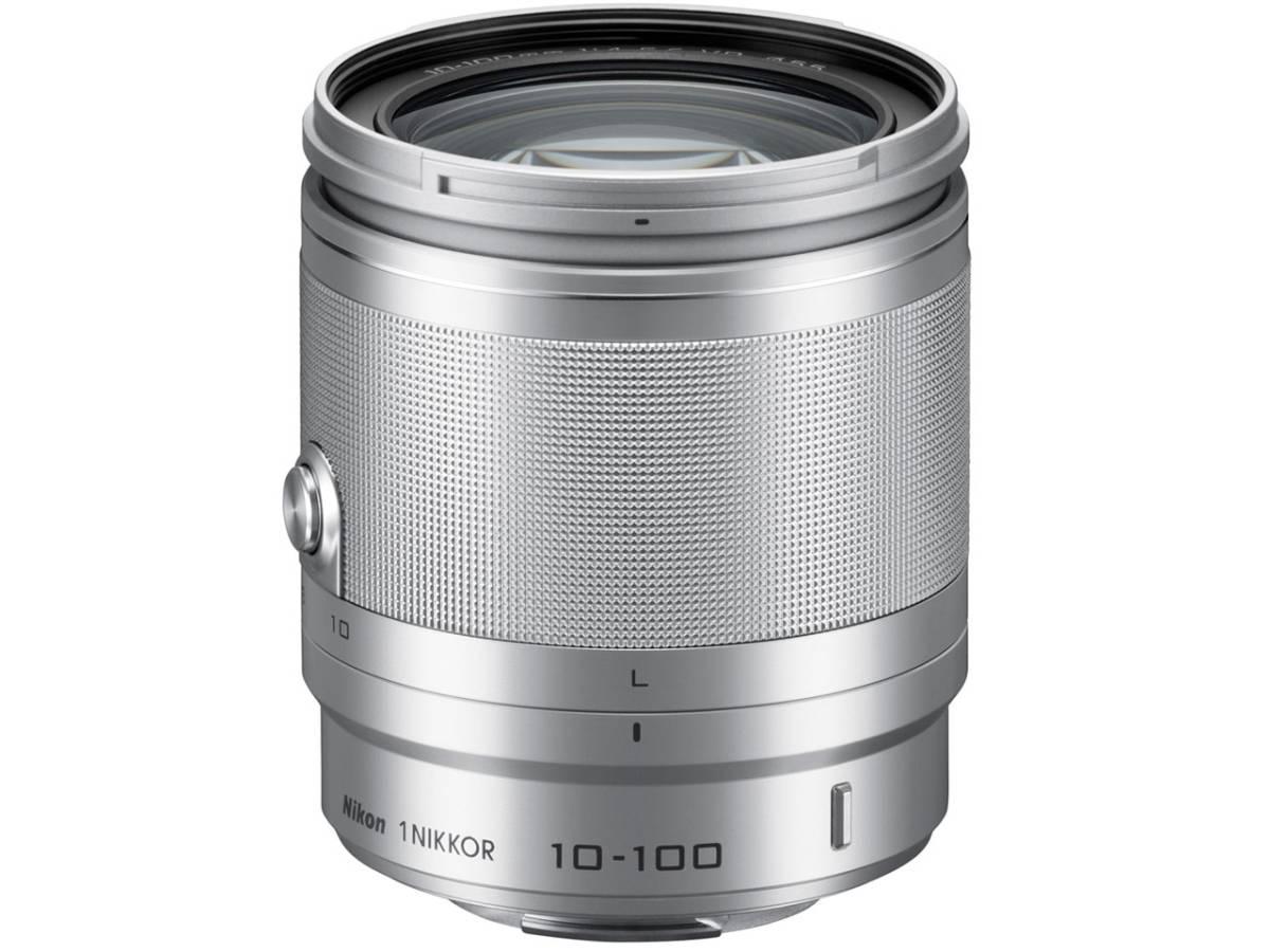 【アウトレット】 送料無料 ゆうちょ可 未使用品 カメラ レンズ Nikon ニコン 1 NIKKOR VR 10-100mm f/4-5.6 ニコン用 シルバー 付属品完備