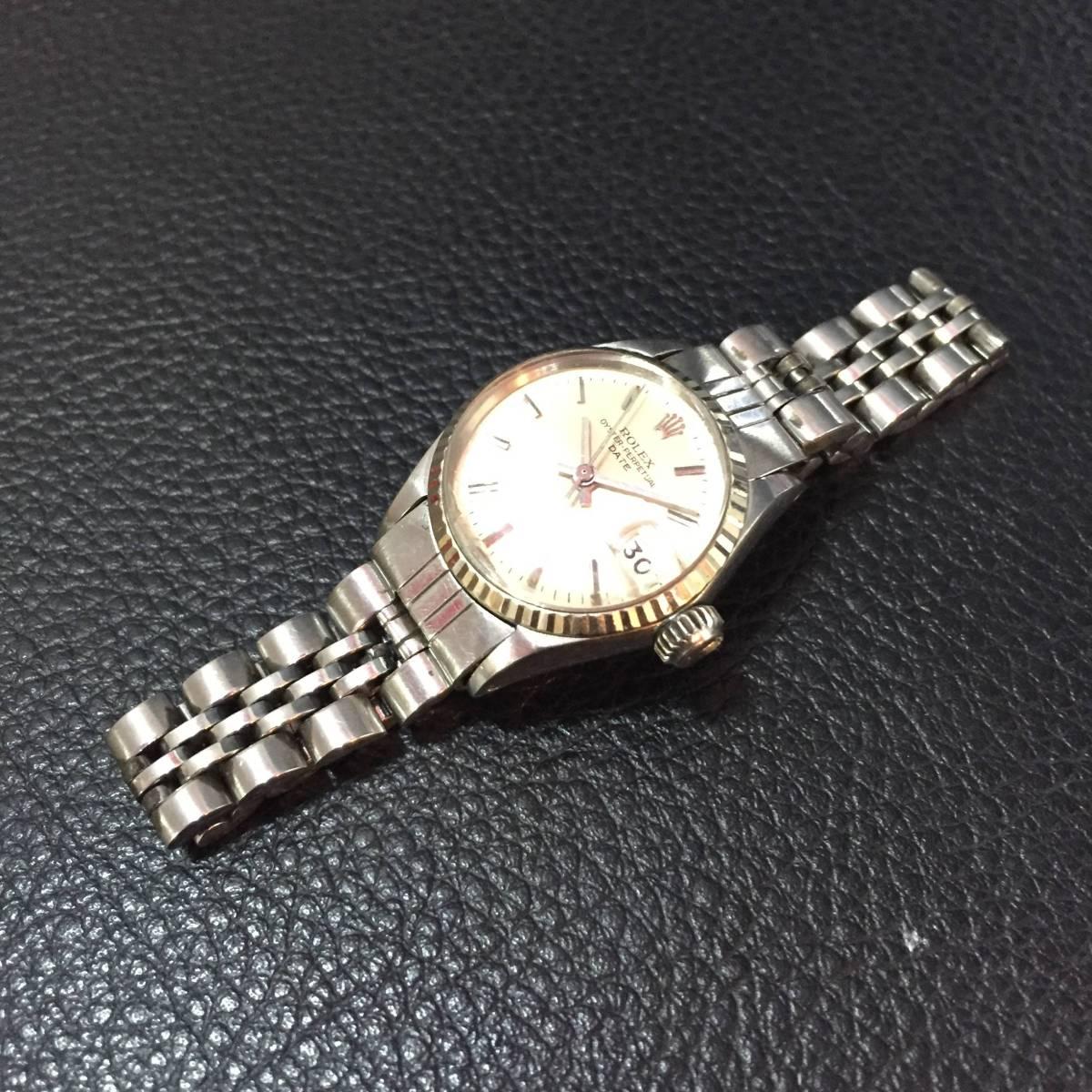 ※動作品 現状品 ROLEX ロレックス レディース デイトジャスト Ref.6924 手巻き腕時計 本体のみ【3002091548/B-2】