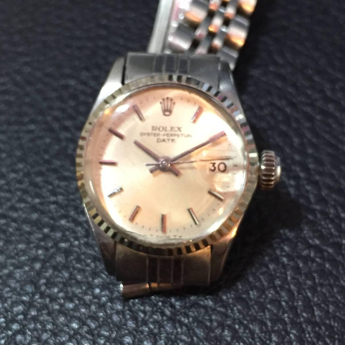 ※動作品 現状品 ROLEX ロレックス レディース デイトジャスト Ref.6924 手巻き腕時計 本体のみ【3002091548/B-2】_画像3