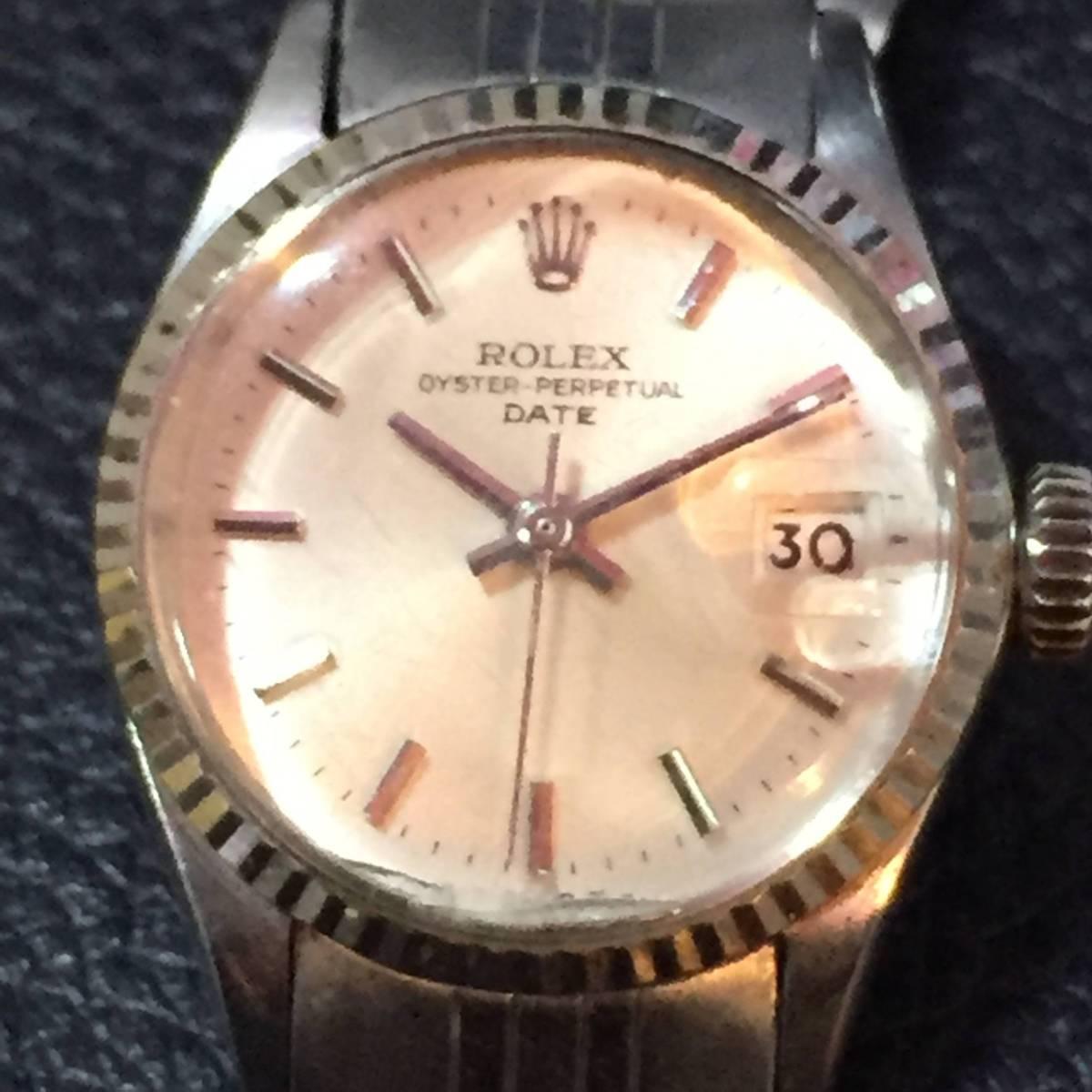 ※動作品 現状品 ROLEX ロレックス レディース デイトジャスト Ref.6924 手巻き腕時計 本体のみ【3002091548/B-2】_画像2