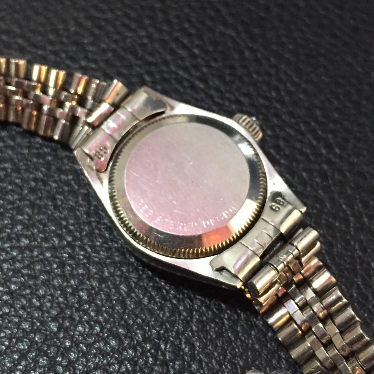 ※動作品 現状品 ROLEX ロレックス レディース デイトジャスト Ref.6924 手巻き腕時計 本体のみ【3002091548/B-2】_画像8