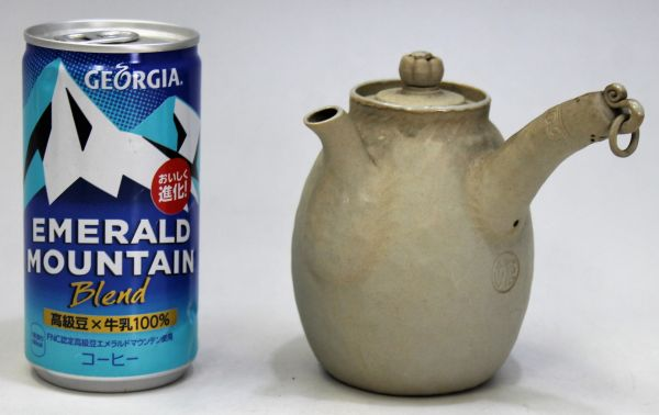 B-329 時代 萬古 万古焼 急須 宝瓶 白泥 白万古 煎茶 茶道具 古玩 蔵出 高さ10.1センチ_画像10