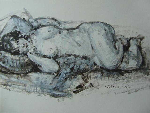 高光 一也【裸婦デッサン】、裸婦、希少画集画、状態良好、新品額装付、送料無料、