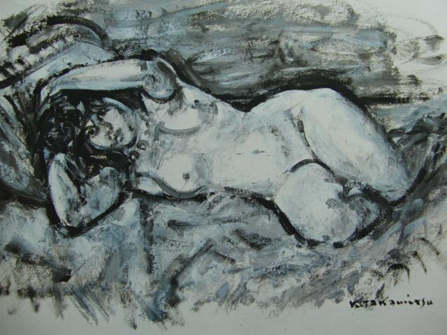 高光 一也【裸婦デッサンⅡ】、裸婦、希少画集画、状態良好、新品額装付、送料無料、