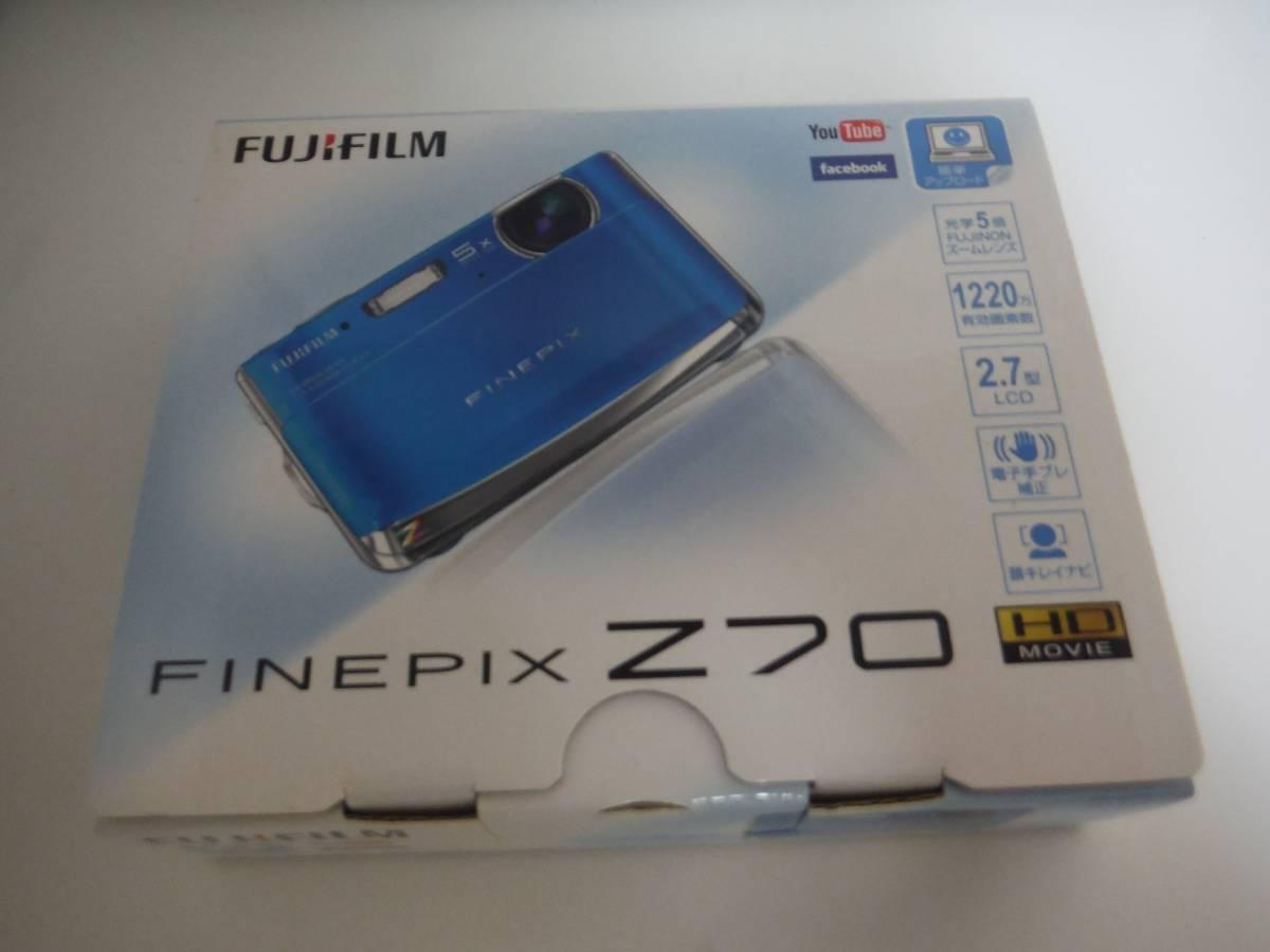 新品 未使用品 富士フィルム FUJIFILM デジタルカメラ FinePix Z70 ブルー