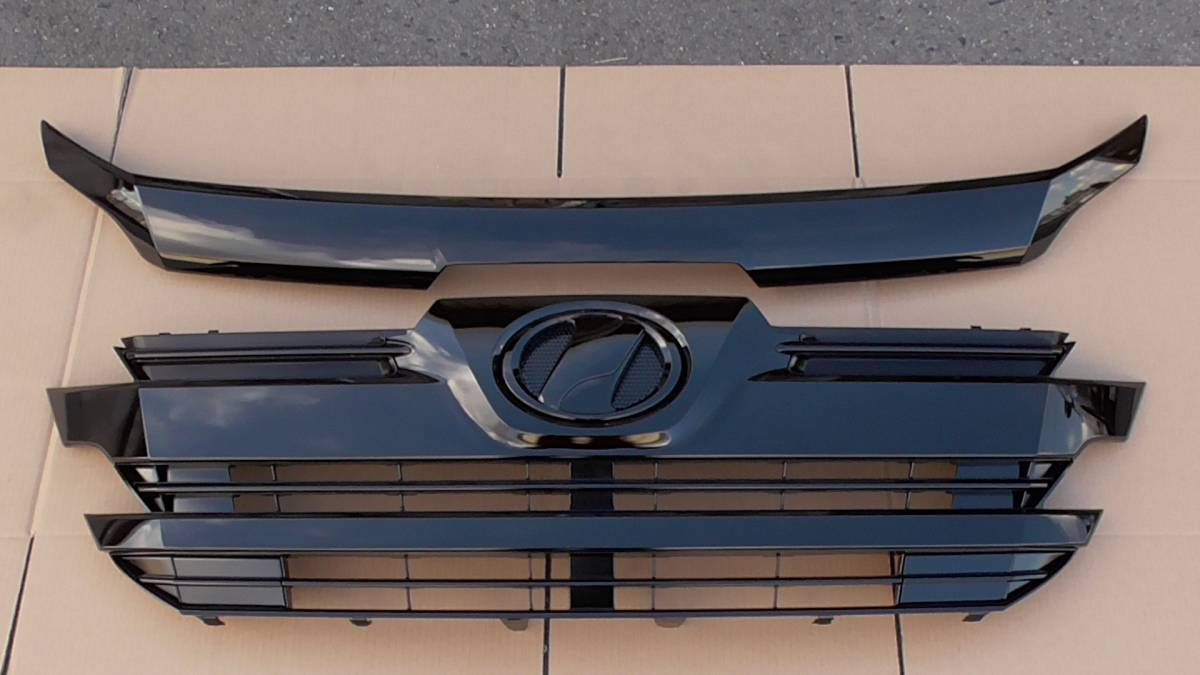 30系 ヴェルファイア 純正フロントグリル ブラック ボンネットフード セット ウレタン塗装 キレイ ボンネットモール