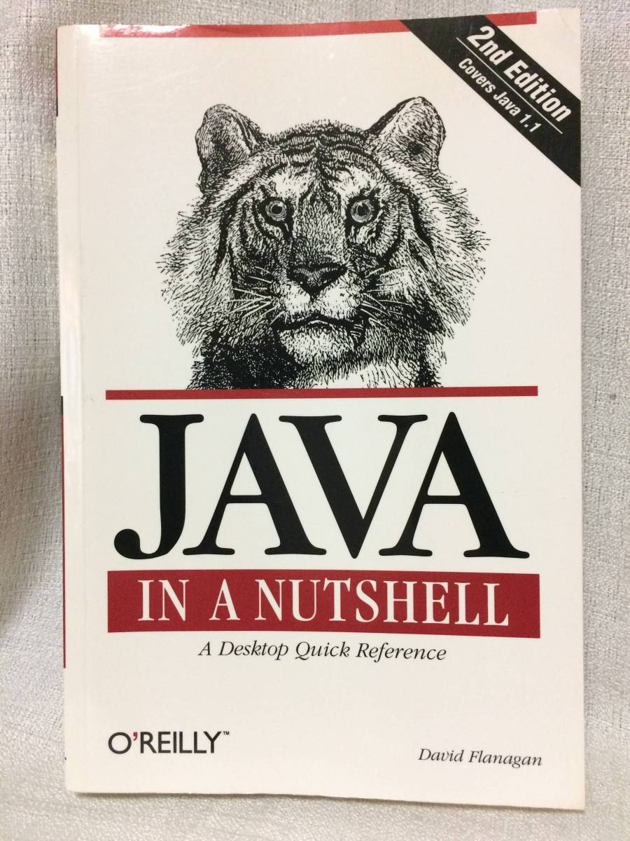 David Flanagan「Java in a Nutshell, a desktop quick reference (O'Reilly)」(オライリー社、1997年、洋書)_画像1