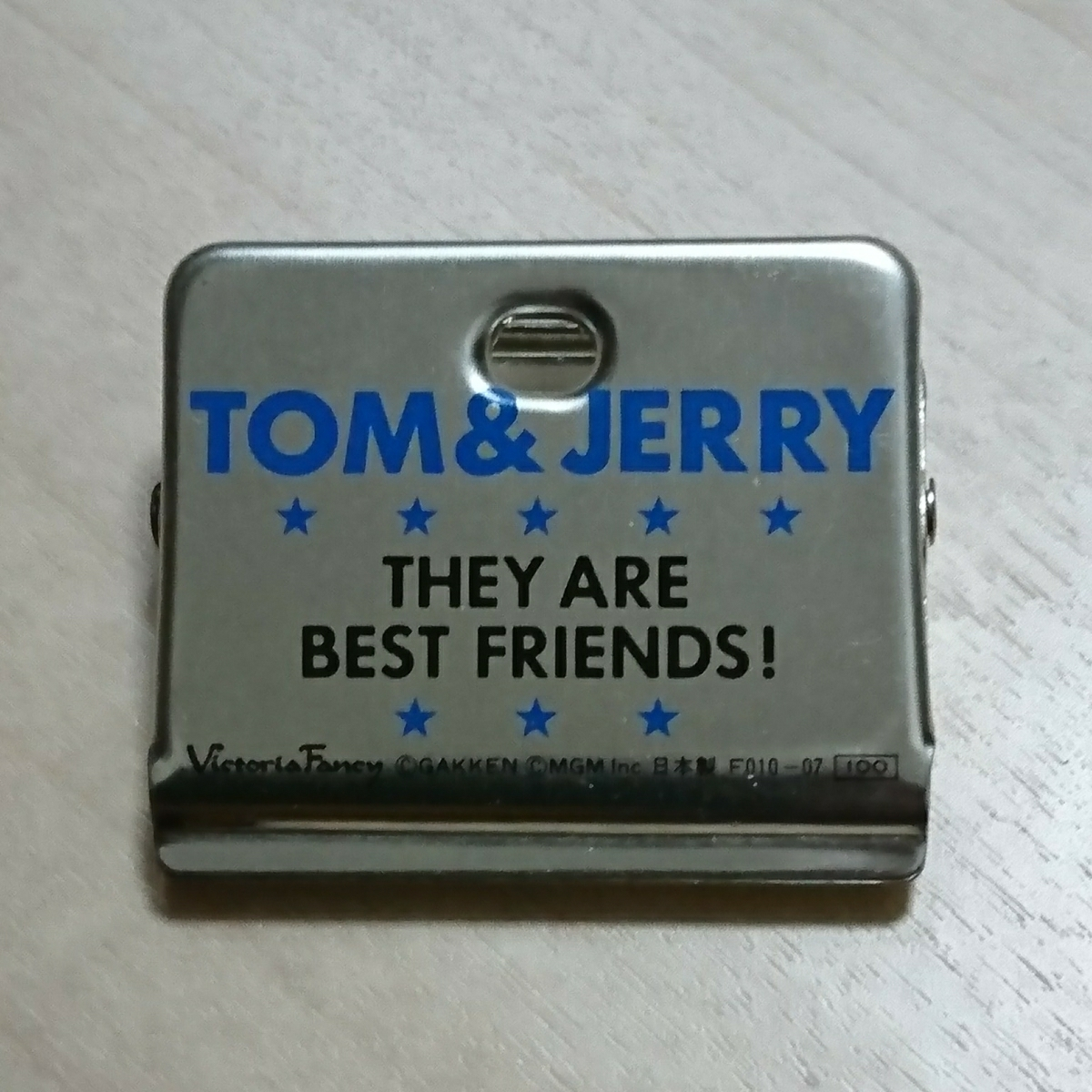 ■『Tom&jerry クリップ』1個。金属製。■裏面「Tom&jerry They are Best friends」と有ります。_画像2