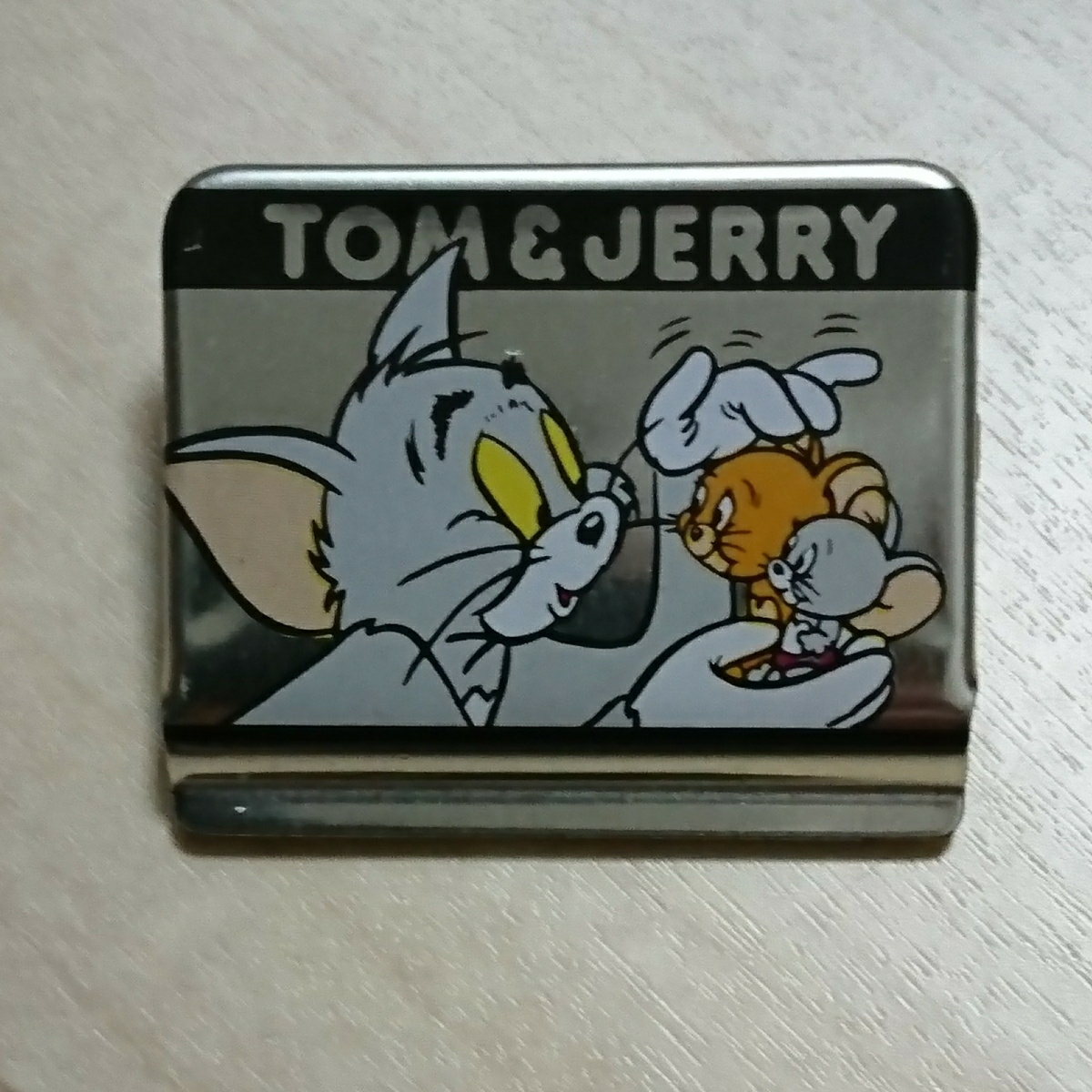 ■『Tom&jerry クリップ』1個。金属製。■裏面「Tom&jerry They are Best friends」と有ります。_画像1