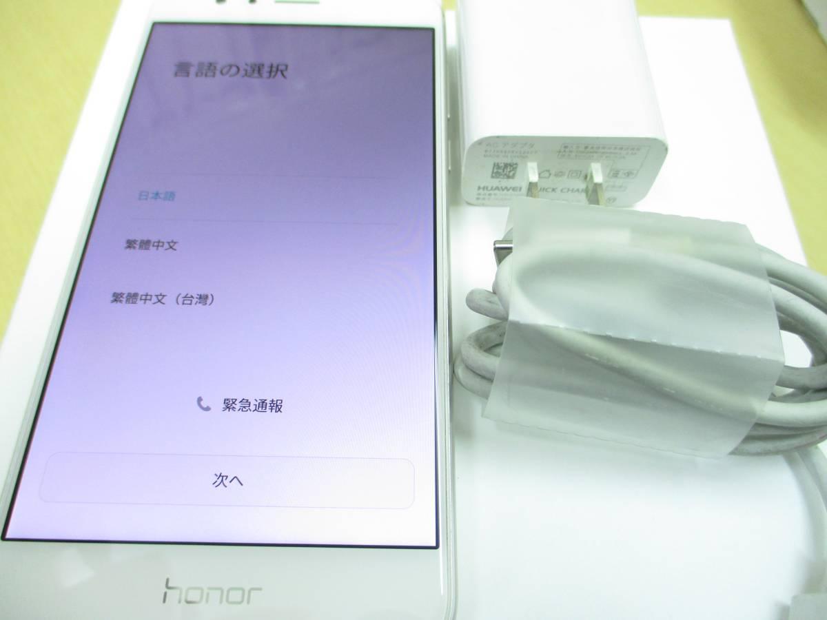 ◆◇1スタ 国内版SIMフリー Huawei HUAWEI honor8 ホワイト 中古美品◇◆