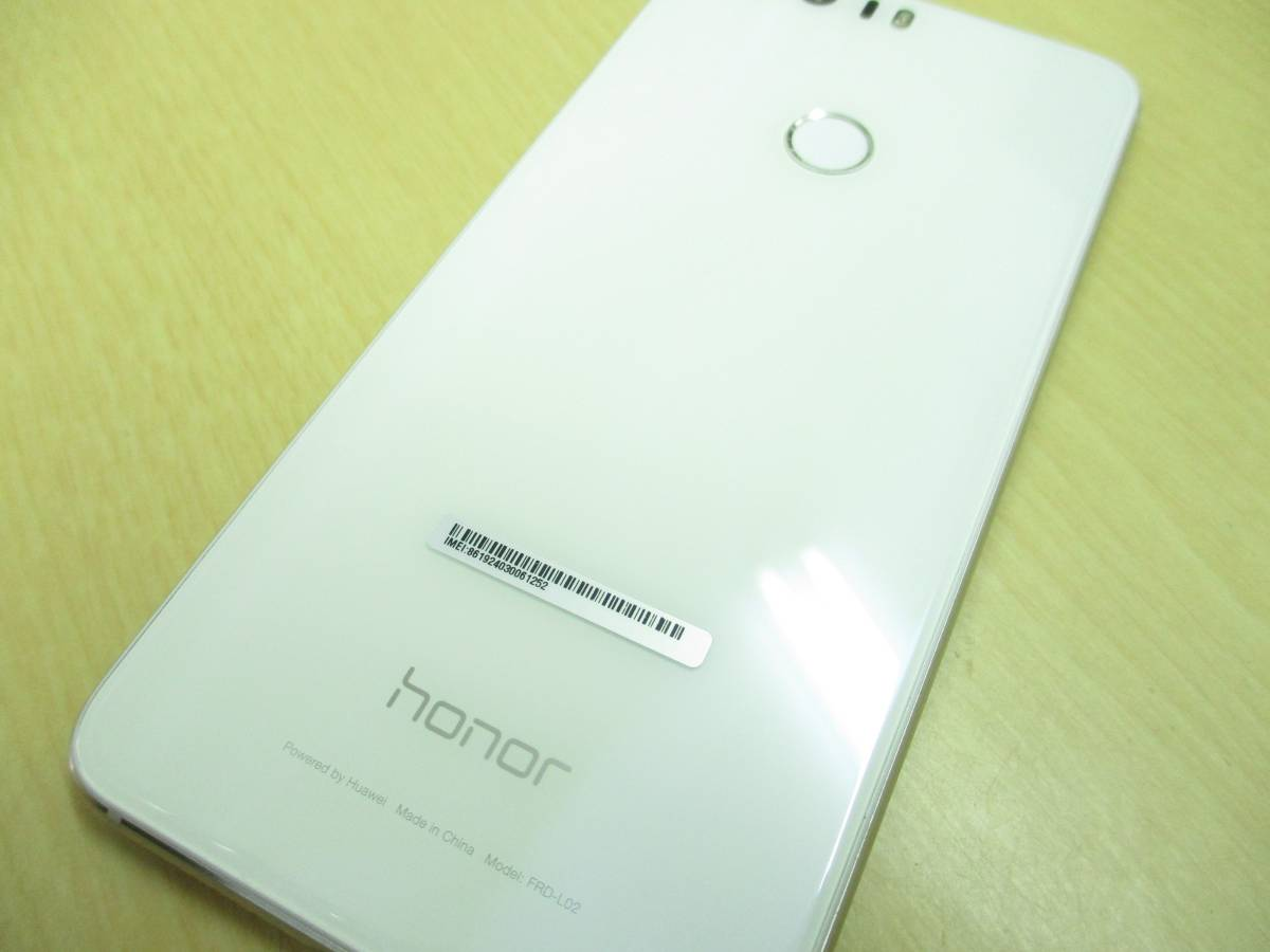 ◆◇1スタ 国内版SIMフリー Huawei HUAWEI honor8 ホワイト 中古美品◇◆_画像6
