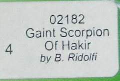 TRPG DARK HEAVEN    02182 Gaiant Scorpion